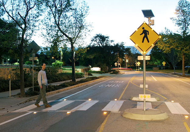 Solar Crosswalk Lights
